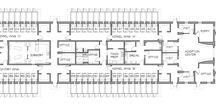 floor plan of Shelter Guardians adoption center